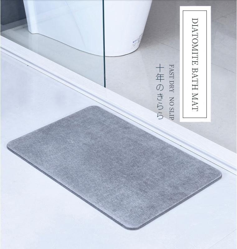 High quality super absorbant diatomaceous earth mat eco-friendly non slip diatomite bath mat proveedor